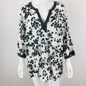 Lucy & Laurel Linen Tunic Top plus Size